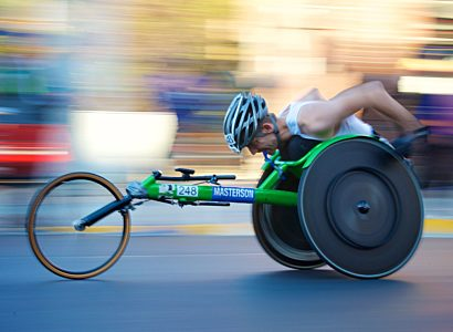Athlete In Wheelchair