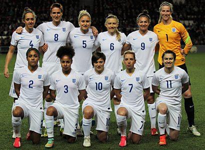 England ladies team photo