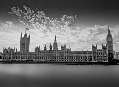 UK Parliament black and white