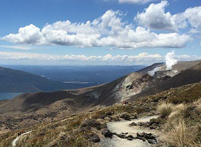 Volcano New Zeland path