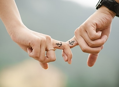 Anchor Couple Fingers 38870