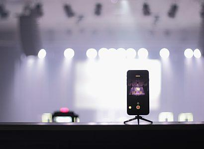 Phone recording on tripod