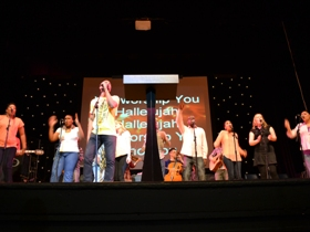 Worship team in Lewisham