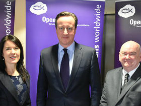 David Cameron visits Open Doors