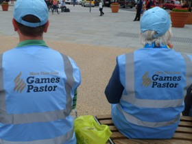 Games Pastors serve visitors to London during the Games