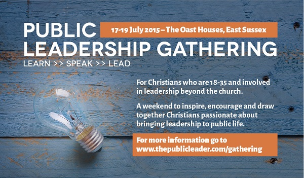Public leadership gathering flyer