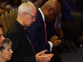 Church leaders stand in unity to pray for the nation
