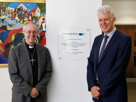 Official opening with the Archbishop of Canterbury