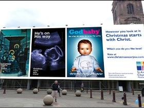 Bishop unveils UK's largest Christmas ad