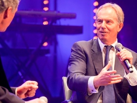 Tony Blair speaks to Christian leaders