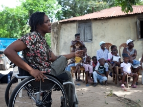 Paralympian visits disability sport centre in Haiti