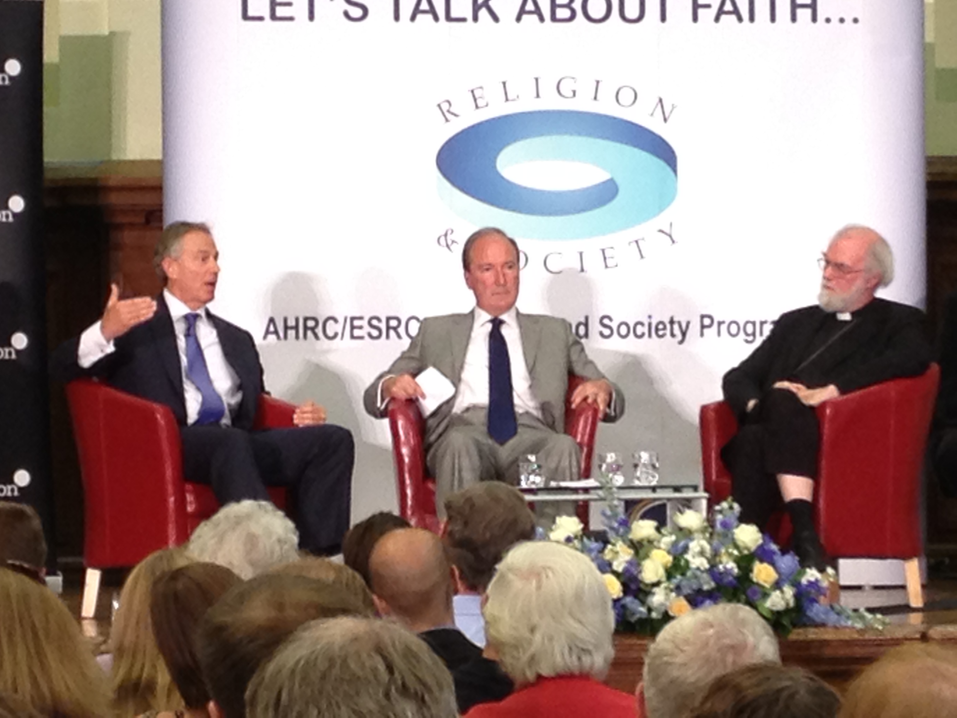 Tony Blair talks faith in public life