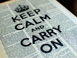 Keep calm and carry on - how we can respond to politics