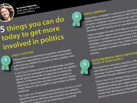 5 ways to get more involved in politics