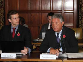 Don Horrocks, the Alliance's head of public affairs, gives evidence at the Clearing the Ground inquiry
