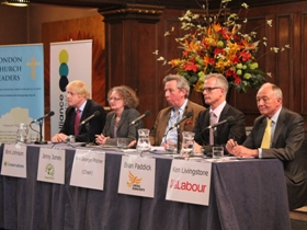 Londoners grill mayoral candidates at church hustings